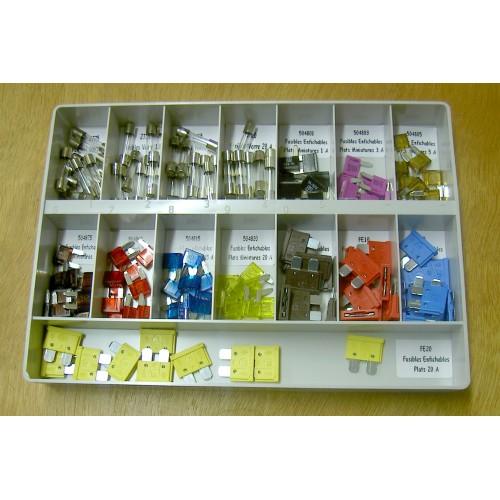 Coffret 140 fusibles : verre, plats classiques et plats miniatures