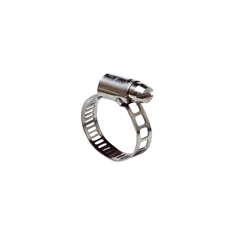 Sachet de 10 colliers Ø7-11 bande ajourée épaisseur 5 mm