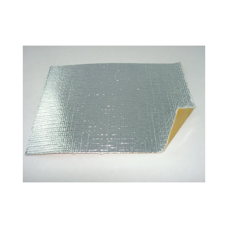 Plaque Isolante Adhésive en Tissu de Verre / Aluminium - 250 *200 mm
