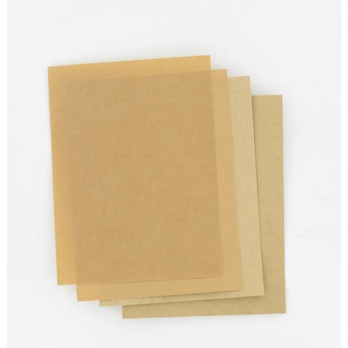 Pochette de 4 feuilles 200 x 150 mm papier huilé indéchirable 150° - 1 x 0.15 / 1 x 0.25 / 2 x 0.50 mm