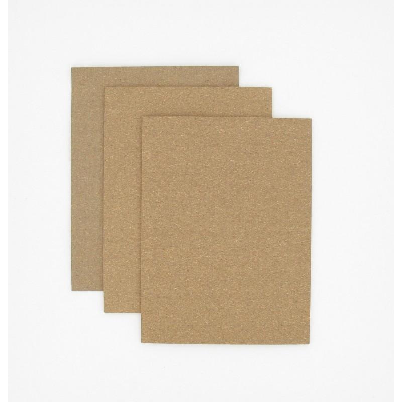 Pochette de 3 Feuilles 200 x 150 mm papier liège nitrile 100° - 1 feuille de chaque