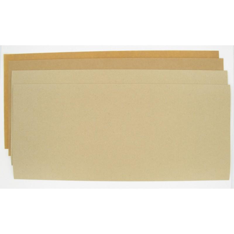 Pochette de 4 Feuilles 475 x 210 mm papier huilé indéchirable 150° - 1 x 0.15 / 1 x 0.25 / 2 x 0.50 mm