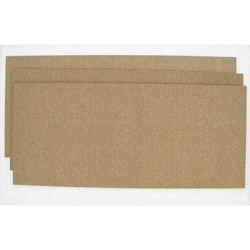 Pochette de 3 Feuilles 475 x 210 mm papier liège nitrile 100° - 1 feuille de chaque