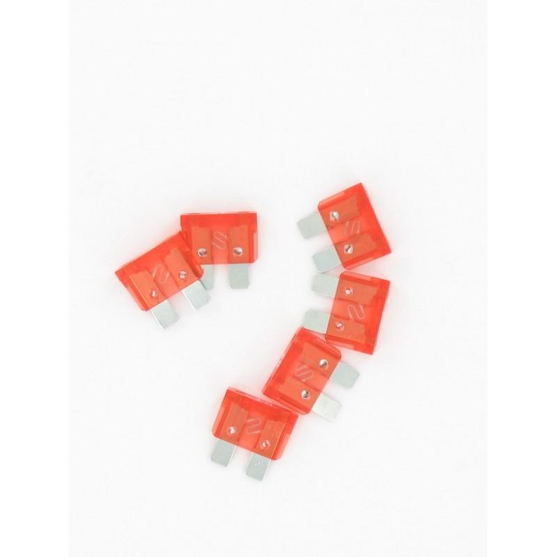 Sachet de 10 fusibles classiques plat enfichables 10 Ampères