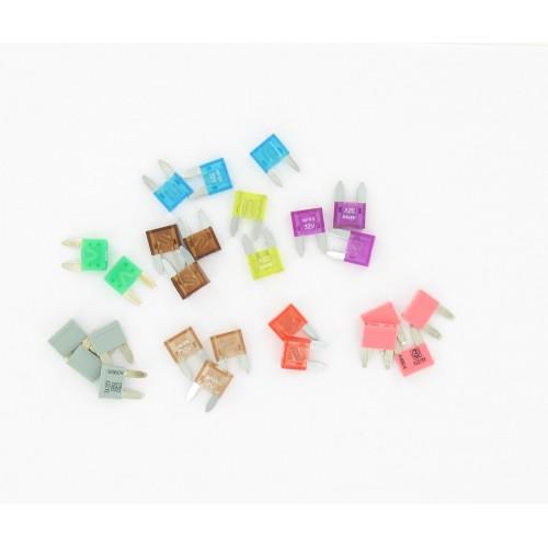 Sachet de 10 fusibles plats miniatures 10 Ampères