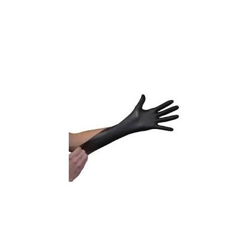 Boite de 100 Gants Nitrile Noir Spécial Atelier - Taille S