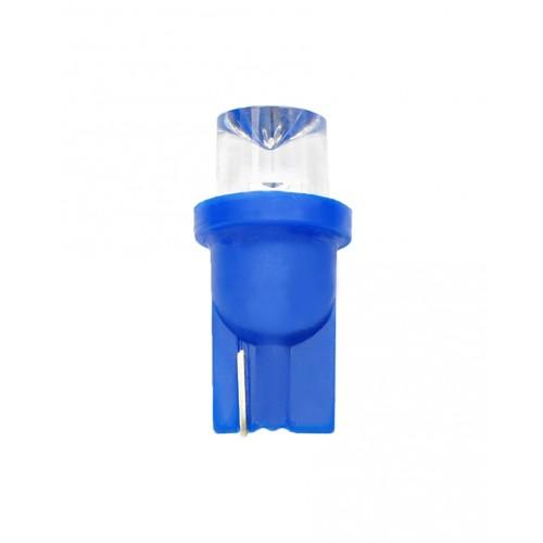 Blister 2 ampoules à LED W5W - T10 - 12V - 0.29 W - 1 x Flux Concave 8mm - Bleu