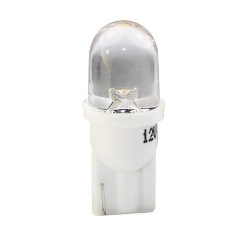 Blister 2 ampoules à LED W5W - T10 - 12V - 0.29 W - 1 x Flux Rond 180 ° - Blanc