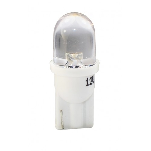T10 – 12V – 1 x Flux Round 180° 8mm – P: 0.29 W – Blanc