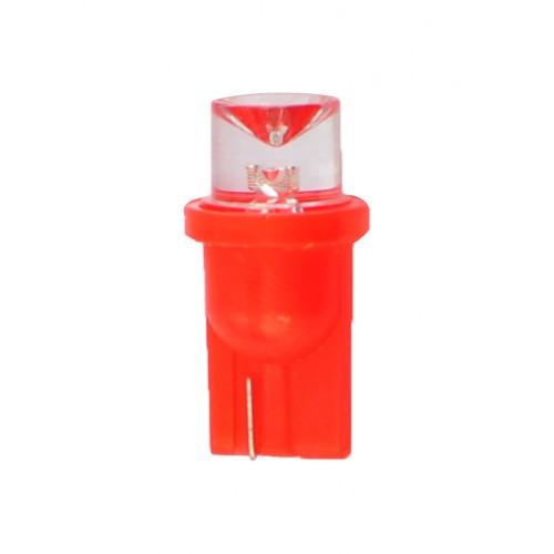 T10 – 12V – 1 x Flux Concave 8mm – P: 0.29 W – Rouge