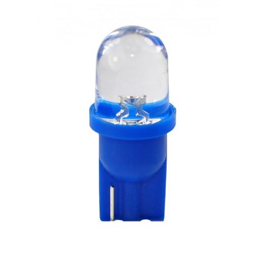 T10 – 12V – 1 x Flux Round 180° 8mm – P: 0.29 W – Bleu