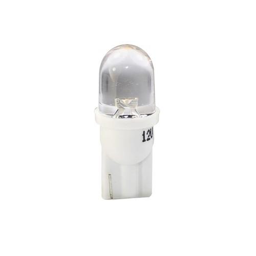 T10 – 12V – 1 x Flux Round 180° 8mm – P: 0.29 W – Blanc Chaud