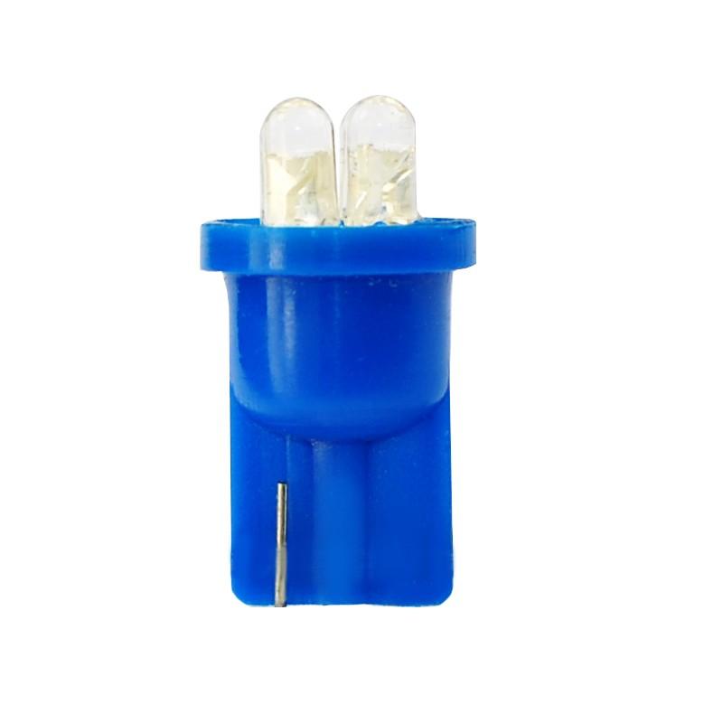 T10 – 12V – 4 x Flux 3mm  –  P: 0.96 W – Bleu