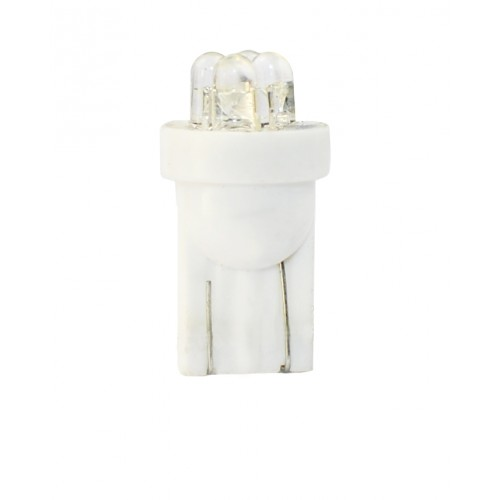 Blister 2 ampoules à LED W5W - T10 - 12V - 0.96 W - 4 x Flux 3mm - Blanc