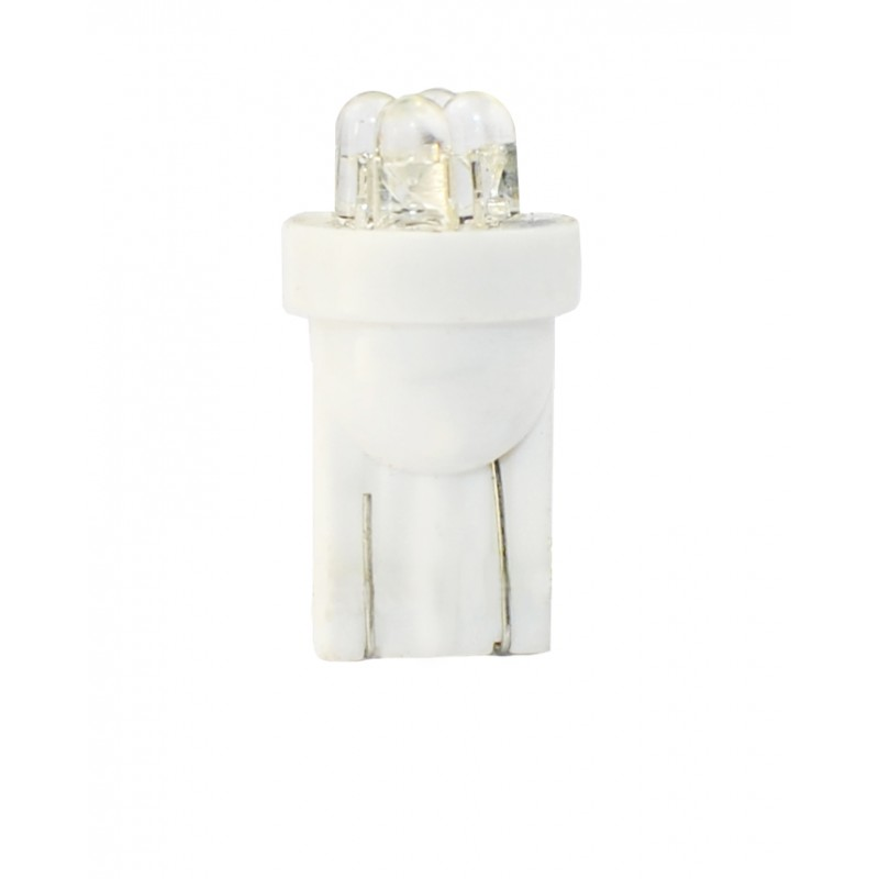 T10 – 12V – 4 x Flux 3mm  – P: 0.96 W – Blanc
