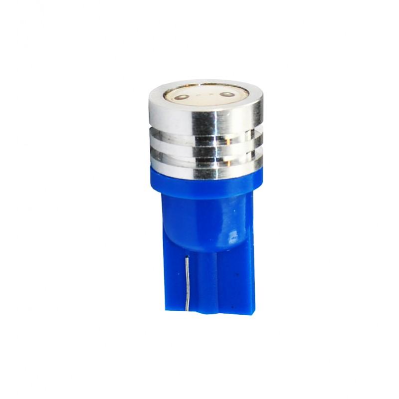 T10 – 12V – 1 x High Power – P: 0.50 W – Bleu