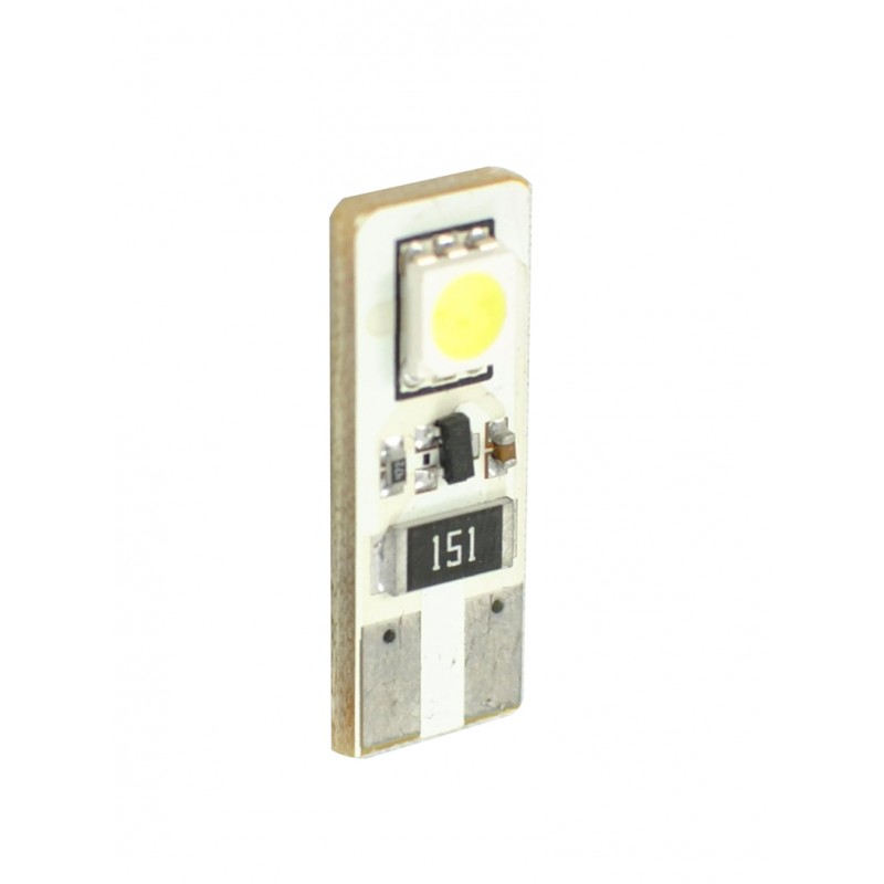 T10 – 12V – 2 x SMD 5050 Canbus – P : 0.48 W – Blanc