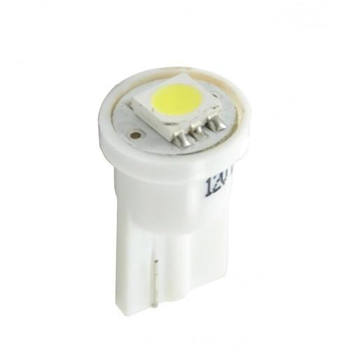 Blister 2 ampoules à LED W5W - T10 - 12V - 0.24 W - 1 x SMD 5050 - Blanc