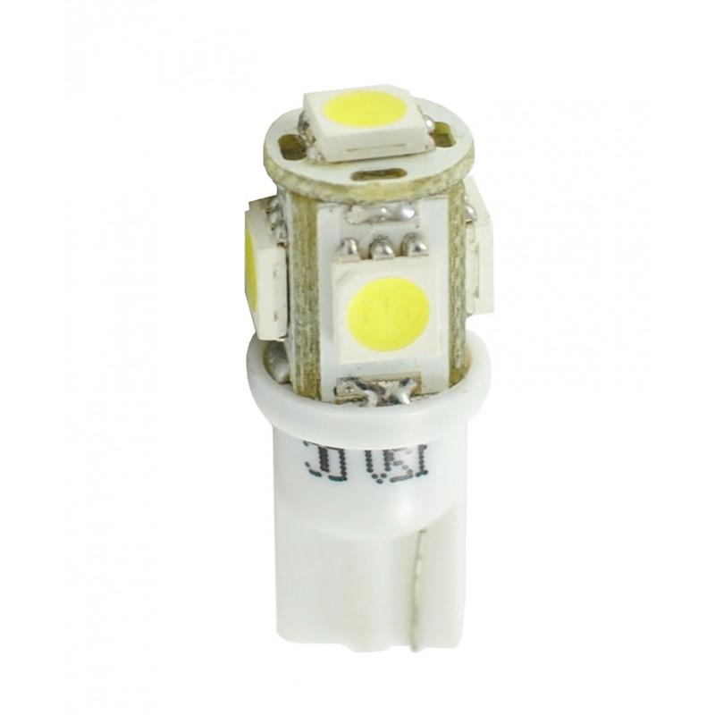 T10 – 12V – 5 x SMD 5050 – P: 1.20 W – Blanc