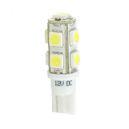 Blister 2 ampoules à LED W5W - T10 - 12V - 2.16 W - 9 x SMD 5050 - Blanc