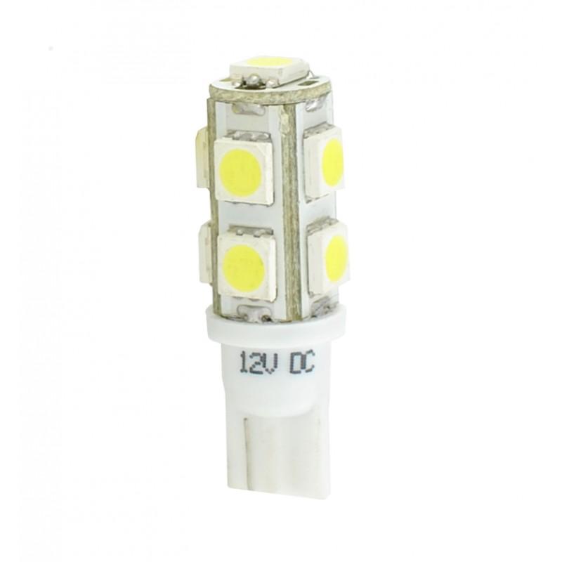 T10 – 12V – 9 x SMD 5050 – P: 2.16 W – Blanc