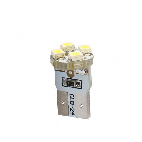 Blister 2 ampoules à LED W5W - T10 - 12V - 0.35 W - 4 x SMD 3528 - Blanc