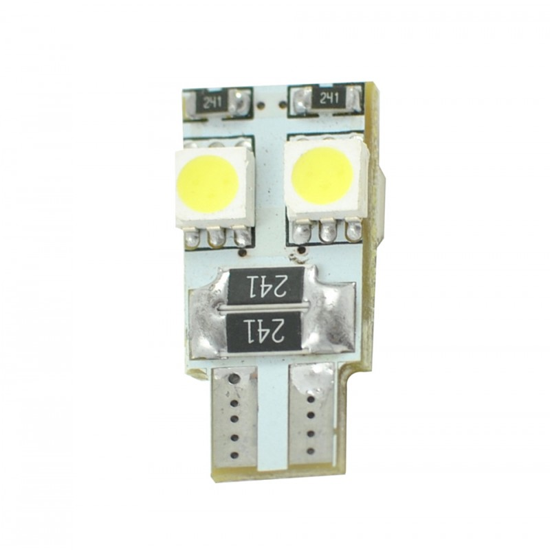 T10 – 12V – 4 x SMD 5050 Canbus – P : 1.4 W – Blanc