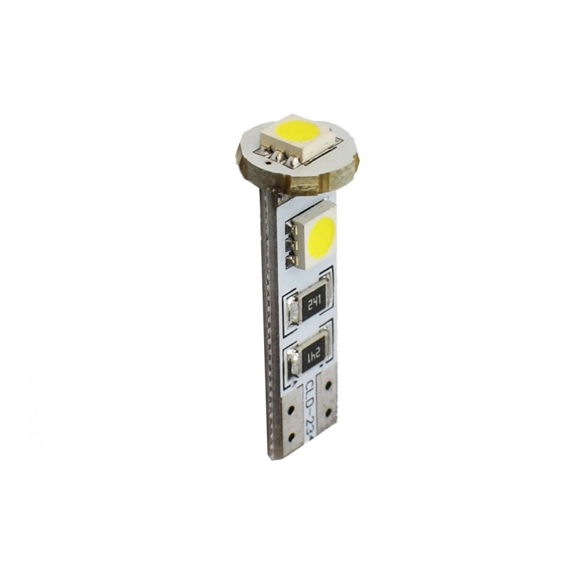T10 – 12V – 3 x SMD 5050 Canbus – P : 0.72 W – Blanc