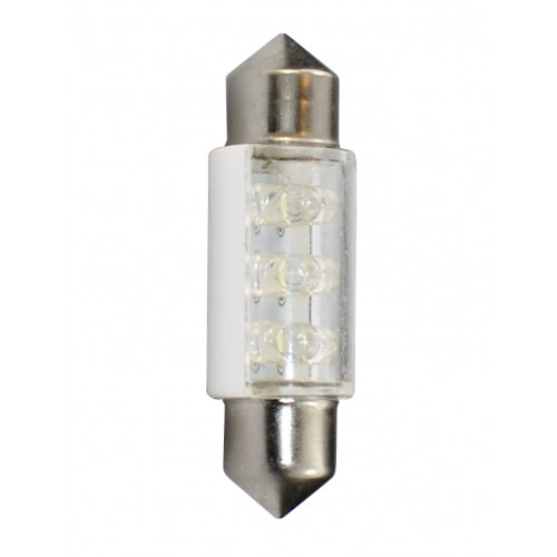 36 mm  - 12V – 6x3mm Led Flux – P : 0.37 W – Blanc