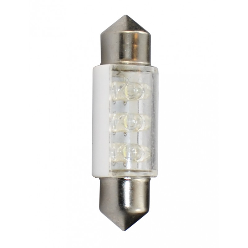 36 mm  - 12V – 6x3mm Led Flux – P: 0.37 W – Blanc