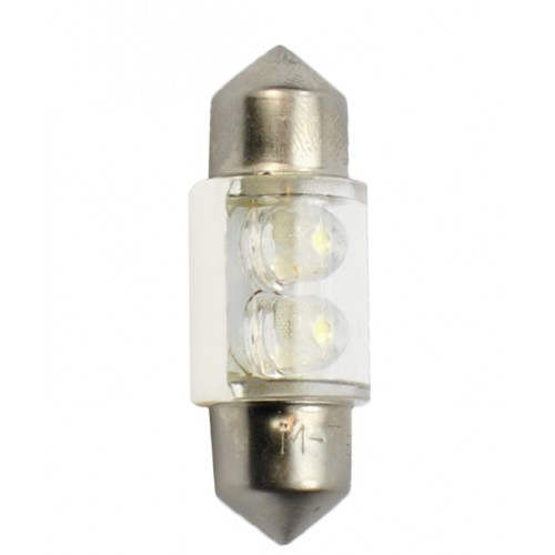 31 mm  - 12V – 2x3mm Led Flux – P : 0.40 W – Blanc