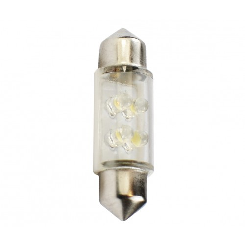 36 mm  - 12V – 4x3mm Led Flux – P : 0.27 W – Blanc