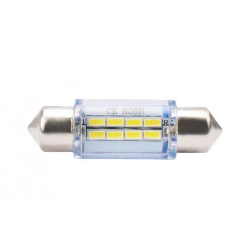 Blister 2 ampoules à LED C5W - 36mm - 12V - 0.70W - 8 x SMD - Blanc