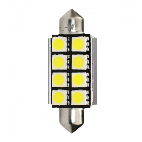 41 mm  - 12V – 8 x SMD 5050 Canbus –  P : 1.92 W – Blanc