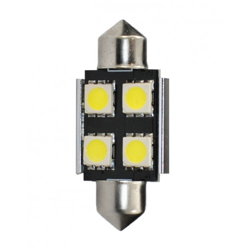 36 mm  - 12V – 4 x SMD 5050 Canbus –  P : 0.96 W – Blanc