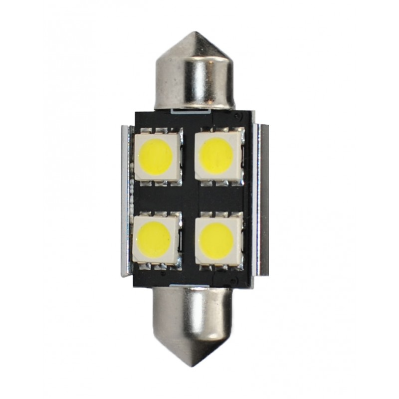 36 mm  - 12V – 4 x SMD 5050 Canbus –  P: 0.96 W – Blanc