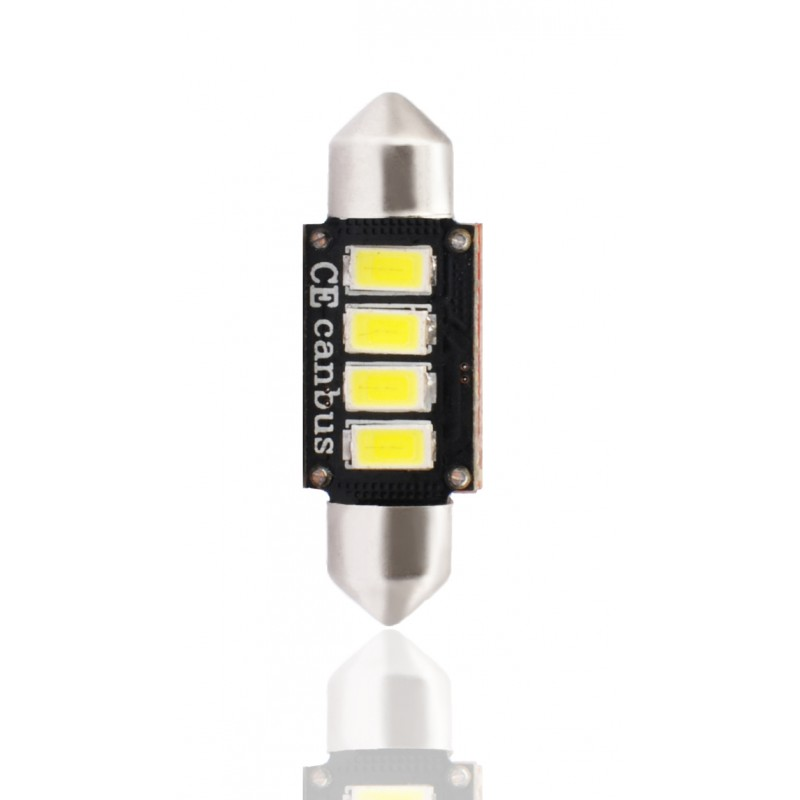 36 mm  - 12V – 4 x SMD 5630 Canbus –  P : 2.00 W – Blanc