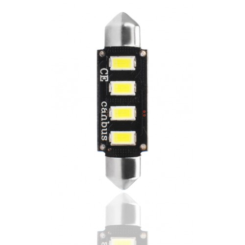 42 mm  - 12V – 4 x SMD 5630 Canbus –  P : 2.00 W – Blanc