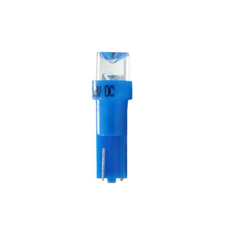T5 - 12V – 5mm Led Flux Concave     –  P : 0.2W – Bleu