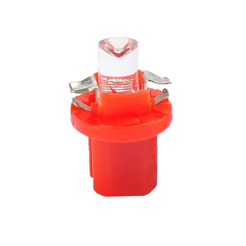 B8.5d – 12V – 5mm Led Flux Concave  –  P : 0.2W - Rouge