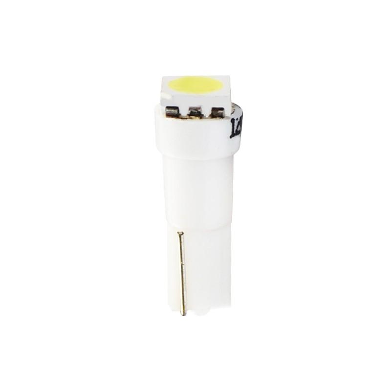 T5 - 12V – 1 x SMD 5050      –         P : 0.24W – Blanc