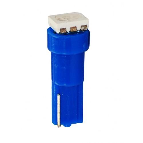 Blister 2 ampoules à LED T5 - 12V - 0.24W - 1 x SMD 5050 - Bleu