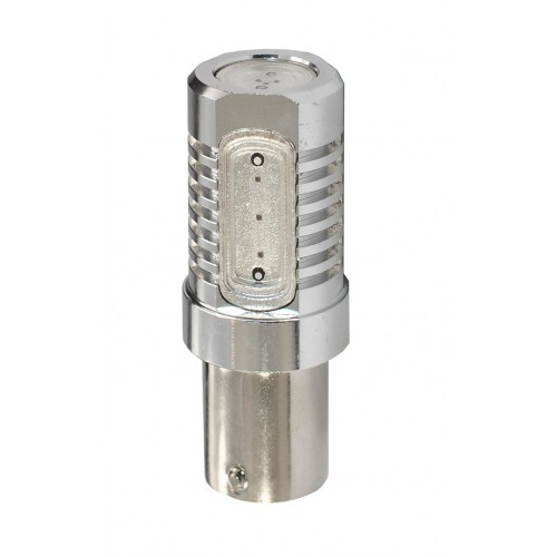 Blister 1 ampoule à LED S25 - Ba15s P21W - 12V - 6.00W - 4 x High Power 1.5W - Rouge