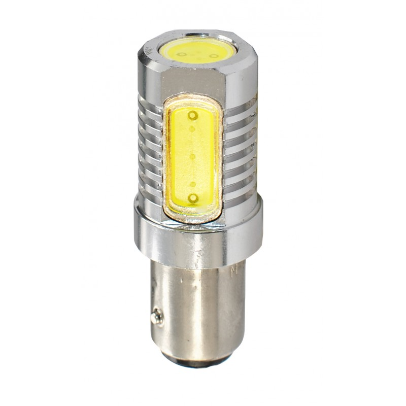 Blister 1 ampoule à LED S25 - Ba15s P21W - 12V - 6.00W - 4 x High Power 1.5W - Blanc