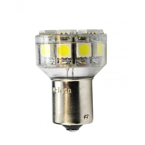 Blister 1 ampoule à LED S25 - BaY15d P21/5W - 12V - 4.32W - 18 x SMD 5050 - Blanc