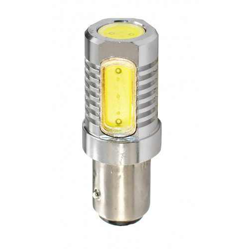 Blister 1 ampoule à LED S25 - BaY15d P21/5W - 12V - 6.00W - 4 x High Power 1.5W - Blanc