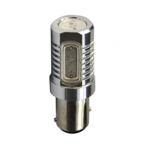 Blister 1 ampoule à LED S25 - BaY15d P21/5W - 12V - 6.00W - 4 x High Power 1.5W - Rouge
