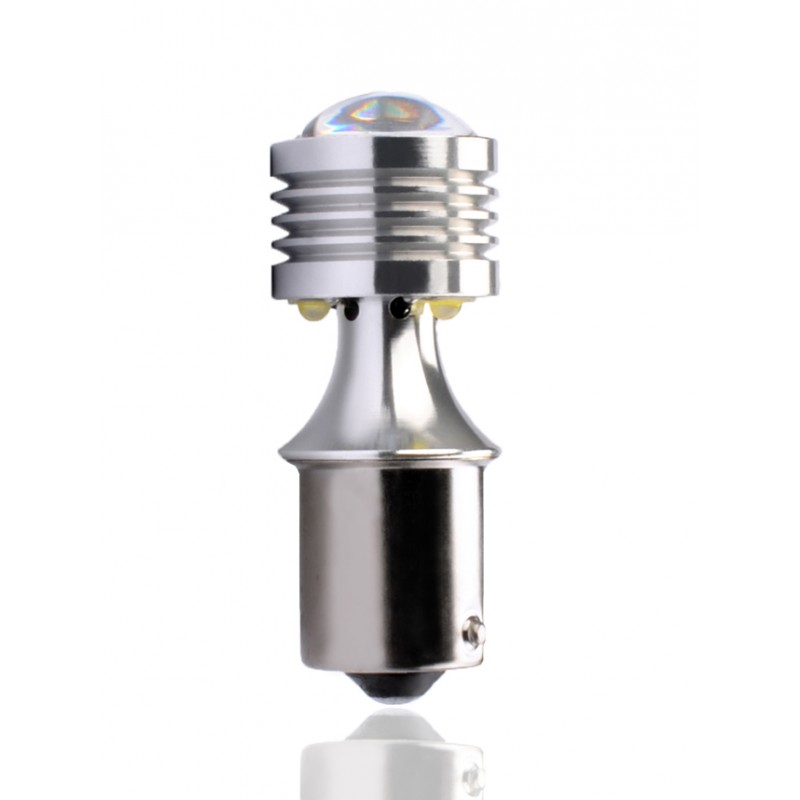 Ba15s – P21W – 12V – 5 x Cree with Lens Canbus – P : 20.00W – Blanc