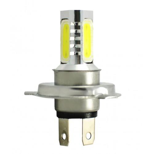 Blister 1 ampoule projecteur à LED H4 - 12V - 6.00W - 4 x High Power 1.5W - Blanc