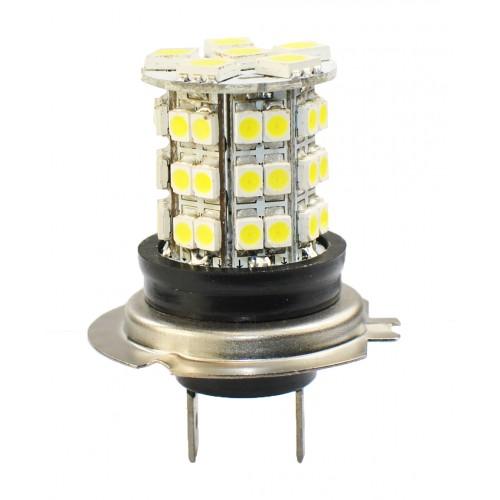 Blister 1 ampoule projecteur à LED H7 - 12V - 4.56W - 48 x SMD 5050 + SMD 3528 - Blanc